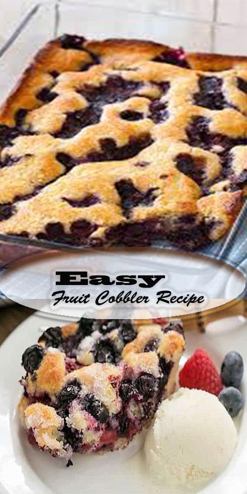 Easy Fruit Cobbler Recipe 1