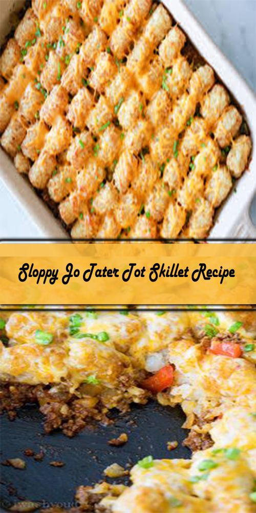 Sloppy Jo Tater Tot Skillet Recipe 1