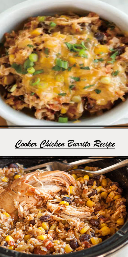 Cooker Chicken Burrito Recipe 1