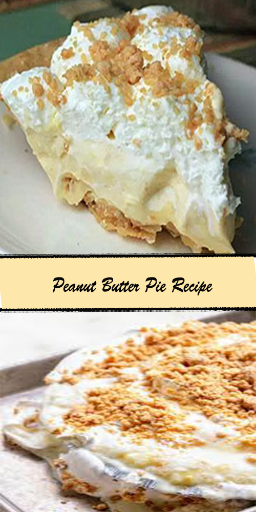 Peanut Butter Pie Recipe 1